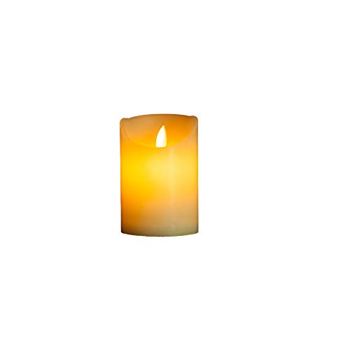 OxoxO 3'/7.5CM (Diameter) Flameless Candles Wavy Side Sway Real Wax Pillar LED Candles Battery Operated-Height 4'