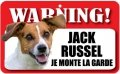 Plaque Jack Russell Je Monte La Garde