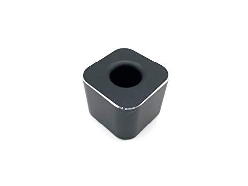 VENVEN ペンスタンド 屈強なアルミ合金製の一本用 ペン立て オフィスデスク 店舗 受付 メモに便利な事務用品 (ブラック)