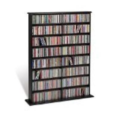 Prepac Double Width Wall  Storage Cabinet, Black