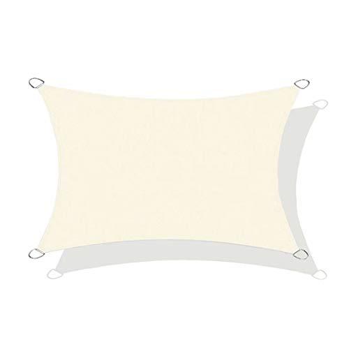 N / A Worryfree - Toldo impermeable rectangular, 95 % anti UV, cobertizo de coche de pérgola para patio, jardín, invernadero, terraza y camping, poliéster, beige, 2.5x3m