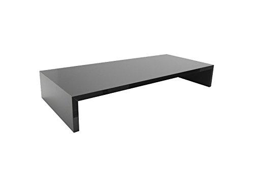 Soporte para monitor 'Sauerland' (90 x 12 x 30 cm), de diseño, color gris claro