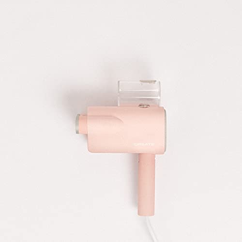 IKOHS Create STRAVEL - Plancha Ropa Vapor Vertical Portátil, Plancha Ropa de Mano Planchado Vertical y Horizontal, 870W, Calienta en 25 Segundos, Desinfecta, Cepillo, Plegable (Rosa)