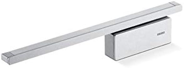 Deurdemper GEZE ActiveStop voor kamerdeur van glas: intrekdemper en deurstopper in één (zilverkleurig)