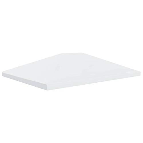Festnight- Telo di Ricambio per Gazebo, Copertura Superiore per Gazebo 310 g/m² 4x3 m Bianco Crema