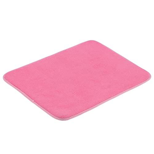 01 Alfombra para Puerta, Alfombra Absorbente de Estilo Elegante para Entrada en el hogar para Cuartos de Lavado para Puertas traseras(Pink)
