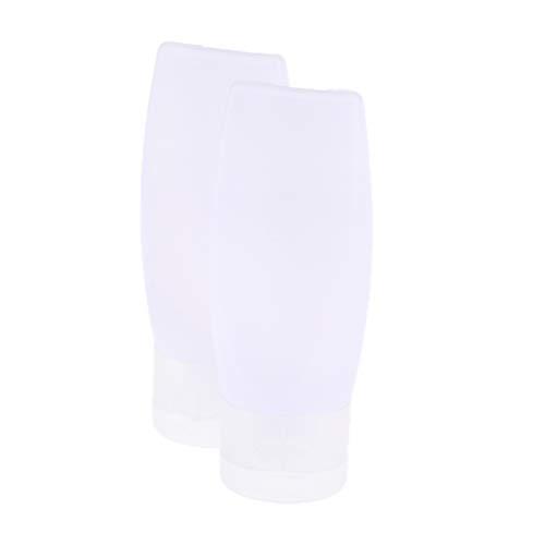 IPOTCH 5pcs Vide Flacon Rechargeable Echantillons Tubes Doux pour produits Cosmétiques Shampooing Nettoyant Gel Douche Lotion - 25g