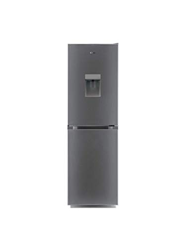 CANDY CMCL5172SWDKN Freestanding Fridge Freezer with Water Dispenser 253L 55cm Stainless Steel, 34004437