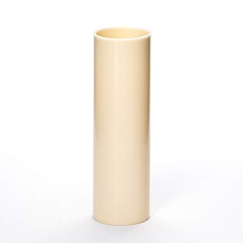 5x E14 Kerzenhülse L. 85mm ø26mm glatt Kunststoff creme beige für Kerzenfassung Kronleuchter Lüster Kerzenhülle Fassungshülse Fassung