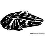 UR Impressions Blk RF Millennium Falcon Decal Vinyl Sticker Graphics for Cars Trucks SUV Vans Walls  - http://coolthings.us