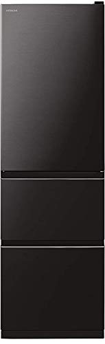 日立 冷蔵庫 315L 3ドア 左開き 幅54cm まんなか野菜室 シンプルデザイン R-V32KVL K ブリリアントブラック