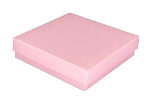 Confezione regalo per gioielli in carta kraft rosa opaco, con imbottitura in cotone rimovibile, 888