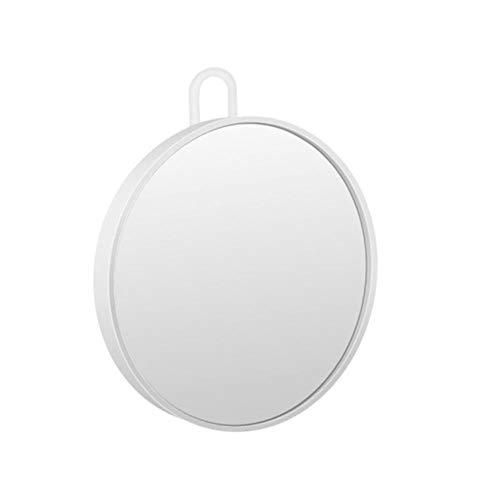 LASISZ Miroir en Verre grossissant Mur Petite Poche compacte Ronde Miroir cosmétique grossissement Outil de Maquillage de Salle de Bain (Rose), B