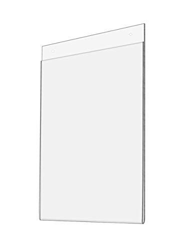 Pôster de pôster de parede com suporte de parede para montagem na parede com moldura de pôster de literatura e aviso sobre o preço do menu Deli Expo, suporte de placa de evento, política de exibição e assinatura de procedimento, 21,5 cm L x 28 cm A, pacote com 1