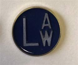 Copper Button X-Ray Markers - Blue, Left ONLY,'L' - 1/2'