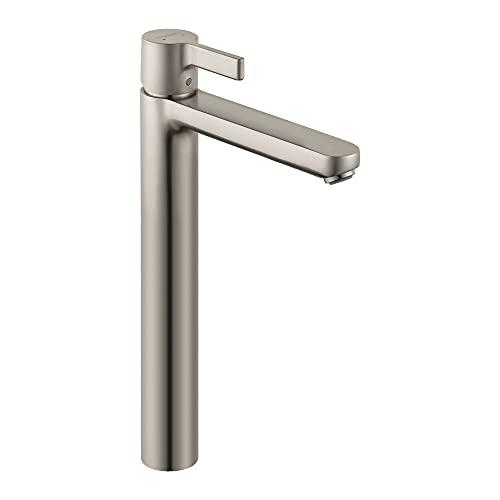 hansgrohe Metris S Modern Low Flow Water Saving 1-Handle 1 13-inch Tall Bathroom Sink Faucet in...