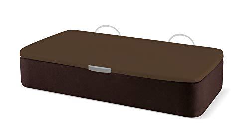Naturconfort Canapé Abatible Ecopel Wengue Premium Tapizado Apertura Lateral Tapa 3D Chocolate 120x190cm Envio y Montaje Gratis