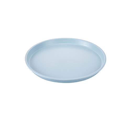 xuejuanshop Bandeja Plástico Bandeja de té pequeña Sala de Estar Taza de té Bandeja Redonda del hogar Taza de Agua de la Taza de té de la Placa Plato de Fruta Bandeja Antideslizante (Color : B)