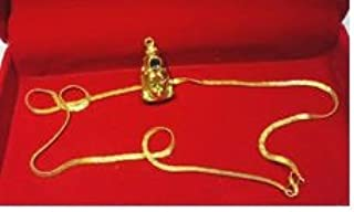 Sovam International Shri Hanuman Chalisa Yantra +Chain (Gold Plated)