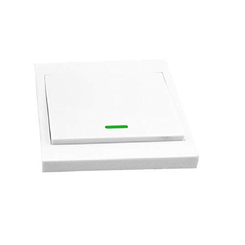 OWSOO Fernbedienung Schalter Wandleuchte Taster 1 Gang 86 Typ EIN/Aus Schalter Panel 433 MHz Wireless RF Fernbedienung Sender mit Aufklebern Freie Position Flexible Für Home Wohnzimmer Schlafzimmer