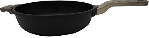 Steuber Bratpfanne La Paz Ø 28 cm Hochrand, moderne schwarze Optik, GREBLON®-Antihaftbeschichtung, Induktion, handlicher Doppel-Griff
