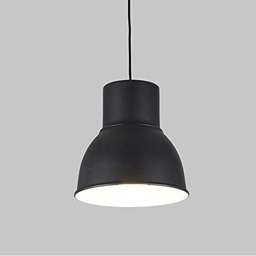 Luz colgante de hierro forjado, luces colgantes en forma de olla de metal negro usando la iluminación del soporte de la lámpara E27, lámparas de suspensión simple de estilo americano para la isla de l