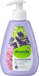 alverde NATURKOSMETIK Flüssigseife Lavendel Malve, 1 x 300 ml
