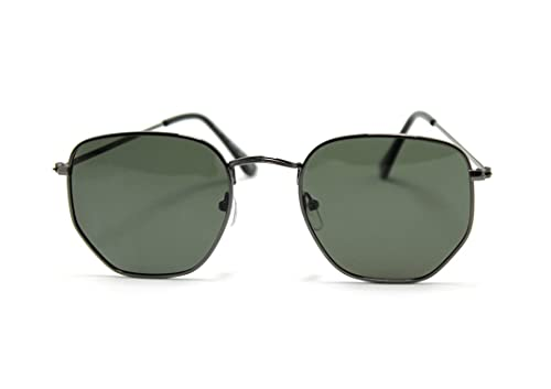 Óculos De Sol Geek Hexagonal Polarizado Aa-3447 Desenho:Hexagonal;Cor:Preto