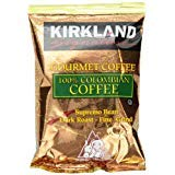 Kirkland Signature 100% Colombian Coffee, Supremo Bean Dark Roast Fine Grind, 42/1.75 ounce Pouches - PACK OF 2