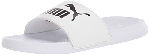 Puma Cool Cat Slide Sandalia para Mujer, Puma Black-puma White-Pale Rosa, 7 US