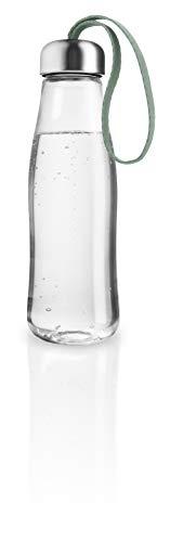 EVA SOLO Botella de cristal de 0,5 l, vidrio de borosilicato, acero inoxidable, silicona, poliéster, verde desgastado.