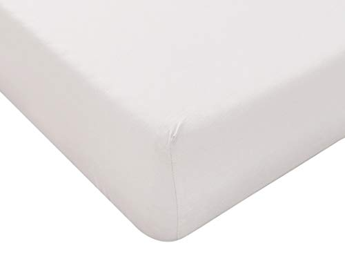 Lenzuolo con Angoli Singolo 90 x 200 cm Bianco, Materiale 100% Puro Cotone, Lenzuola Letto Singolo 1 Piazza, Made In Italy