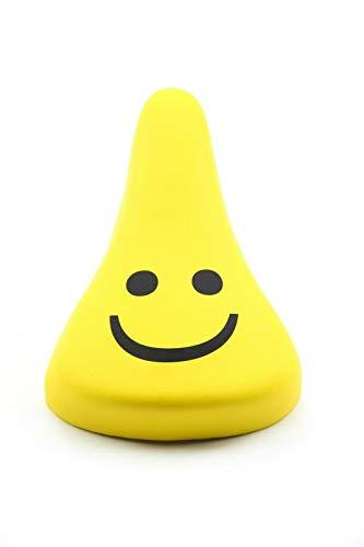Fietszadel voor kinderen - junior zadel - geel - motief SMILEY -