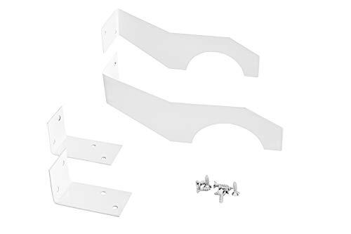 Halterung für Heizkörperverkleidungen | Metall | für Rippenheizkörper | lackiert | weiß | robust | 150x40mm