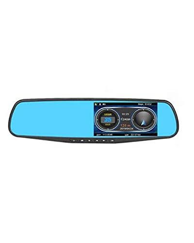 ACD Detector de Radar Dvr para Coche, cámara de Espejo retrovisor, Registrador FHD 1080P, Grabador de vídeo Anti-Radar(Color:b,Size:None)