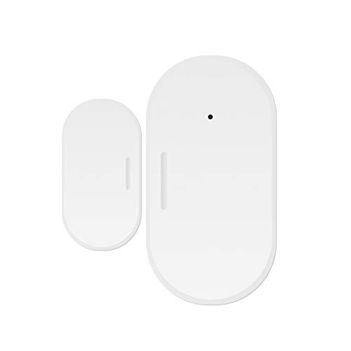 XIEJ Tuya ZigBee Smart Window Door Sensor inalámbrico ventana puerta detector de seguridad para el hogar sistema de alarma con control de aplicación inteligente para el hogar apartamento