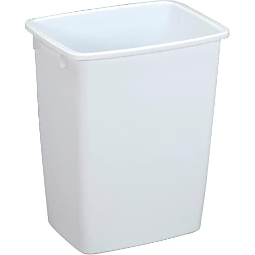 Rubbermaid174; Wastebasket 36 Quart, White, 14.5' x 11' x 18'