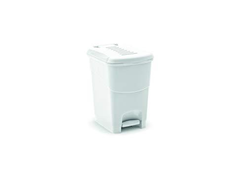 Kis Koral Abfallbehälter 16L mit Pedal und Inneneimer, weiß