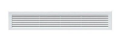 Lüftungsgitter 460 x 110 mm weiß Abschlussgitter Insektenschutz Abluft Zuluft Gitter Ventilator Insektennetz TRU 26