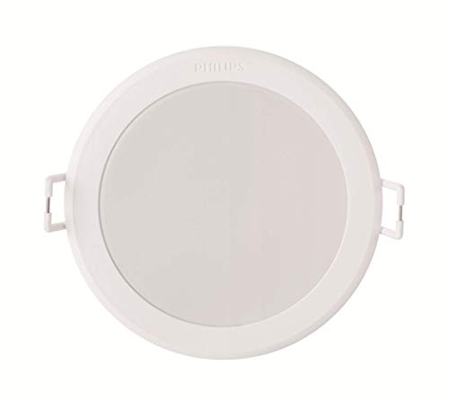 Philips MyLiving Meson Foco Empotrable Redondo 6W, luz Blanca cálida (4000K), Iluminación Interior