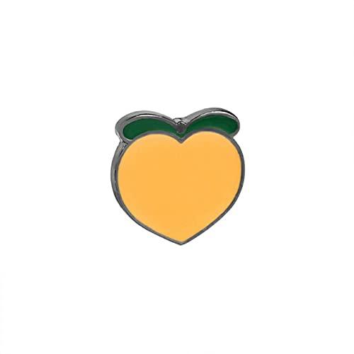 Broches de fruta de dibujos animados Melocotón sandía Pins Banana Lemon Esmalte Pin Broche para Mujeres Hombres Niños Insignia Colección Regalo Joyería