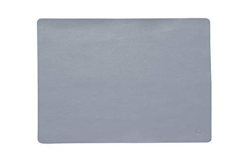 Pichler: Elegante Tischsets Jazz in Lederoptik, Kunstleder, Rauchblau, 33x46 cm
