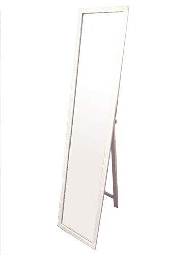『NaturalHouse スタンドミラー 白 幅27cm 高さ140cm 木製 飛散防止加工』の1枚目の画像