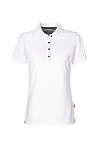 Women-Poloshirt Cotton-Tec, HK214-weiß, S