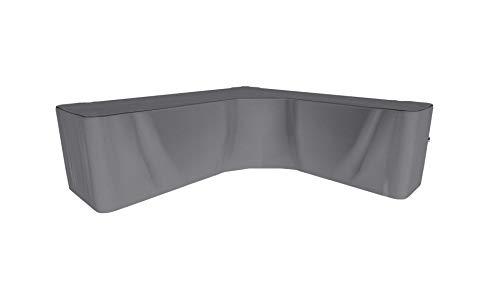 SORARA Housse de Protection Hydrofuge pour Canapé d'angle | Gris | 300 x 300 x 98 x 70 cm