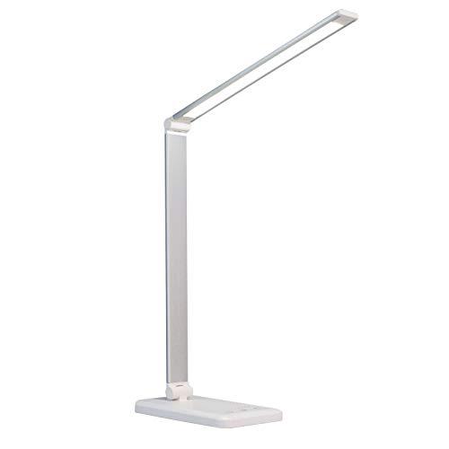 JCXOZ Lámpara de Control de Control táctil con 3 Niveles de Brillo, lámpara de Oficina Regulable con Brazo Ajustable, lámpara de Escritorio de Mesa Plegable para Dormitorio de Mesa. (Color : White)