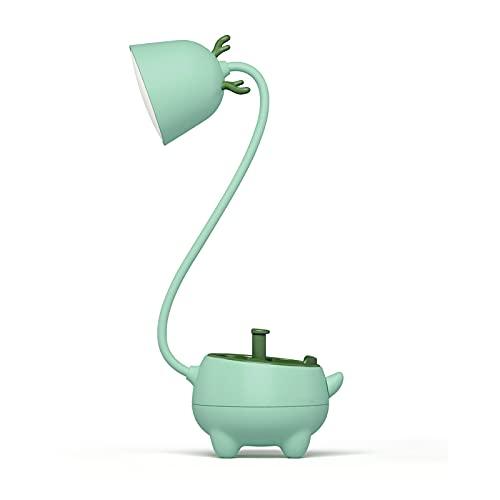 Dingyue Lámpara de escritorio lámpara de mesa con soporte de la pluma Soporte del teléfono recargable lectura noche luz para oficina en casa