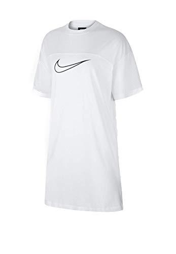 Nike W NSW Mesh Dress, Damen M White/White/Black
