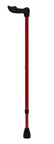 オッセンベルグ社 伸縮式T字型杖 メタリックレッド 右手用・FG-1R
