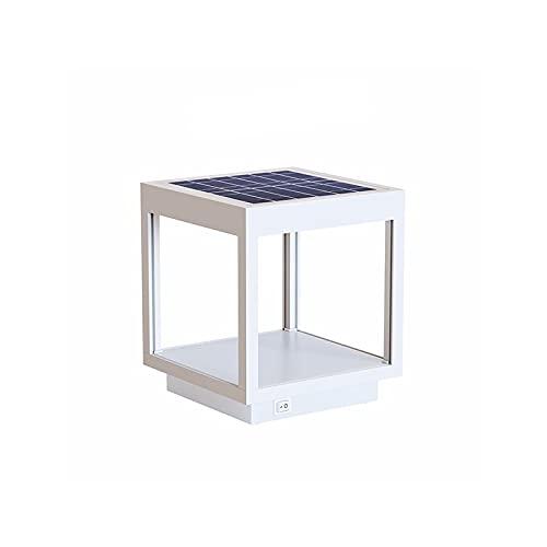 Beneito Faure Visor Solar Lampada LED Con Pannello Solare Portatile In Alluminio Per Esterno IP65 - Bianco